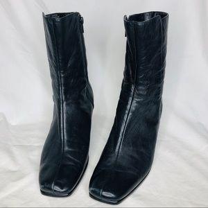 Nine West Daybrook Black Leather Boots Size 9.5